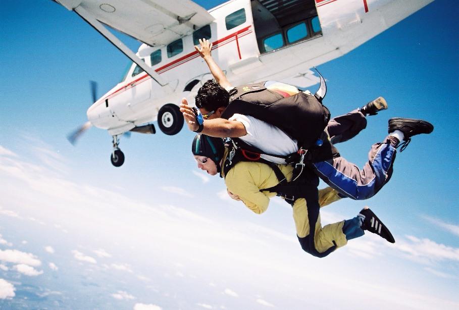 Hoppa fallskärm - den ultimata adrenalinkicken och studentpresenten!